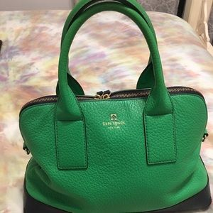 Kate Spade green and navy tote